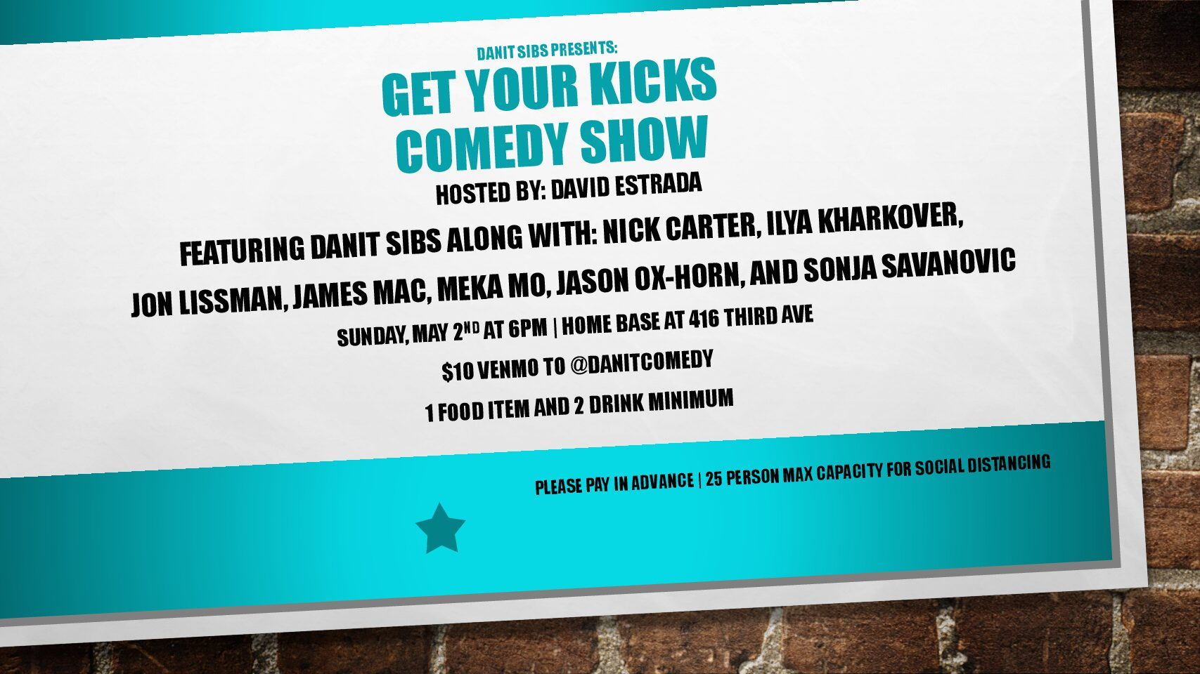 Upcoming Comedy Shows!